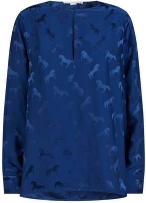 Stella McCartney Horse Split-Sleeve Blouse