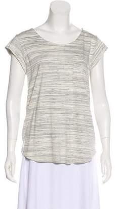 Joie Striped Short Sleeve Blouse