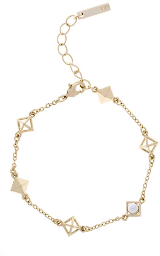 Armband mit Pyramiden und Perlen