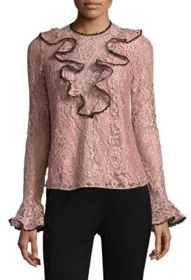 Addie Ruffled Lace Top