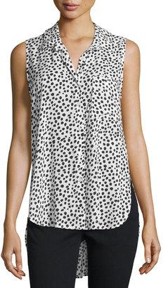 Velvet Heart Madden Sleeveless Polka-Dot Blouse, Black $59 thestylecure.com