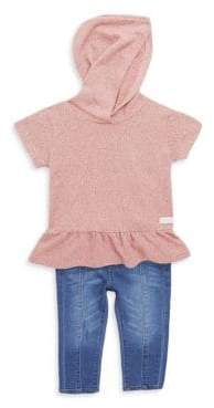 7 For All Mankind Baby's Hoodie Top & Jeans Two-Piece Set