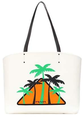Prada Printed canvas shopper