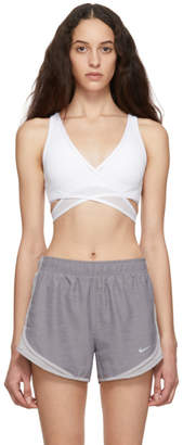 Nike White Air Mesh Sports Bra