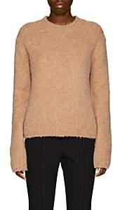 Helmut Lang Women's Brushed Wool-Blend Crewneck Sweater - Camel