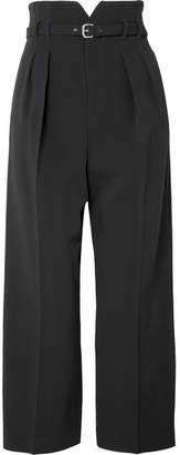 RED Valentino Cropped Cady Wide-leg Pants - Black