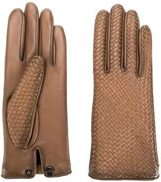 Agnelle woven effect gloves