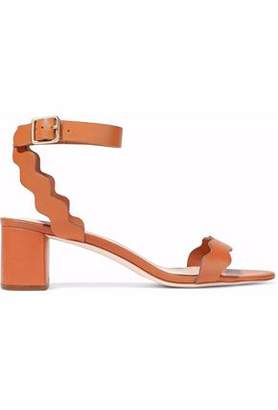 Loeffler Randall Emi Scalloped Leather Sandals