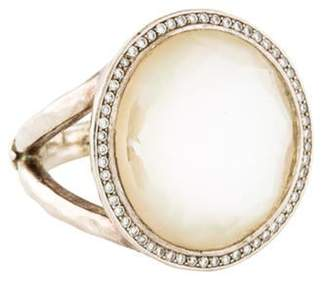 Ippolita Mother of Pearl, Quartz & Diamond Stella Lollipop Cocktail Ring silver Mother of Pearl, Quartz & Diamond Stella Lollipop Cocktail Ring