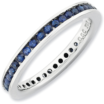 Stackable ExpressionsTM Lab-Created Blue Sapphire Eternity Ring in Sterling Silver