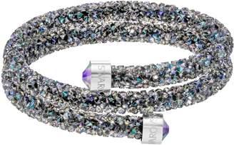 Swarovski Crystaldust double bangle, purple
