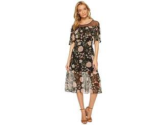 BB Dakota Rella Floral Print Midi Dress Women's Dress