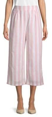 Striped Cotton Beach Pants