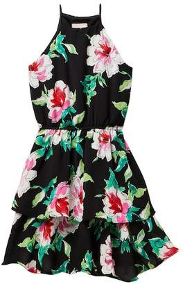Love...Ady Floral Halter Ruffle Dress (Big Girls)