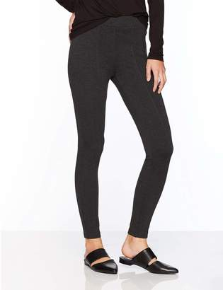 Daily Ritual Women's Faux 5-Pocket Ponte Knit Legging, 2-Pocket Ponte Knit Legging