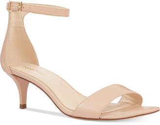 Nine West Leisa Two-Piece Kitten Heel Sandals Women Shoes