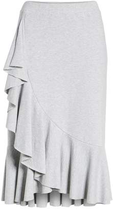 Halogen Ruffled Knit Skirt