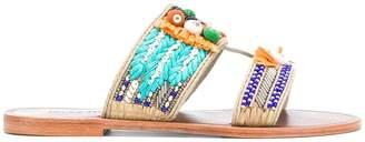 Antik Batik embellished flat sandals