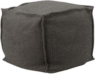 Distinctly Home Cube French Seam beanbag ottoman