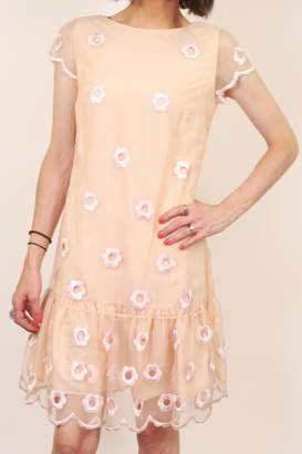 RED Valentino Floral Peach Dress $450 thestylecure.com
