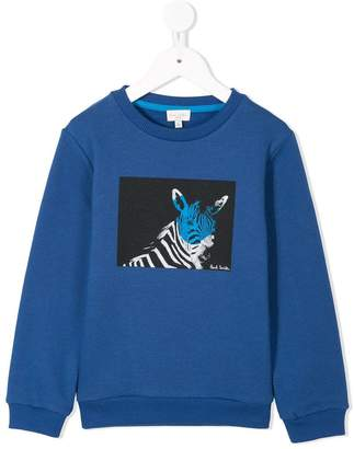 Paul Smith zebra print sweatshirt