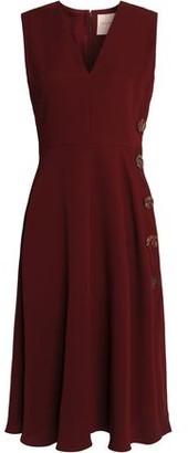 Roksanda Button-Embellished Silk-Crepe Dress