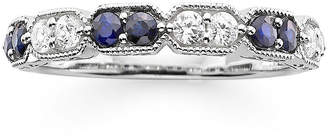 MODERN BRIDE I Said Yes 1/4 CT. T.W. Diamond and Lab-Created Blue Sapphire Wedding Band