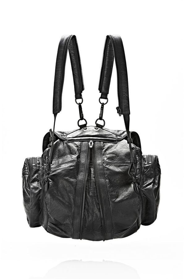 Alexander Wang Marti Backpack In Black With Matte Black
