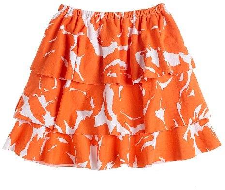 Girls' Brushstroke-print tiered skirt