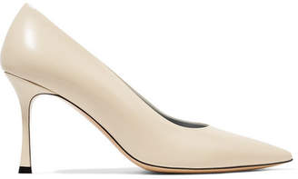 The Row Champagne Leather Pumps - Cream