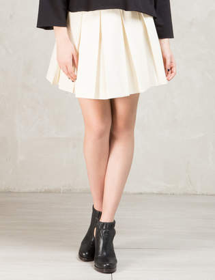 MAISON KITSUNÉ Beige Solid Pleated Gabardine Skirt