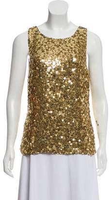 Ralph Lauren Black Label Sequined Sleeveless Top