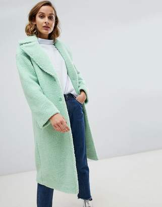 Asos DESIGN teddy coat