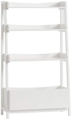 Pottery Barn Kids Angled Bookcase, Simply White, Standard UPS Delivery
