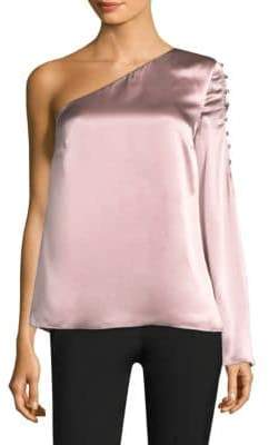 Parker Ripley One-Shoulder Silk Top