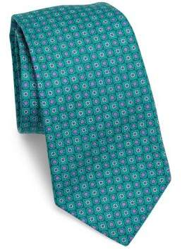 Kiton Circle Flower Silk Tie