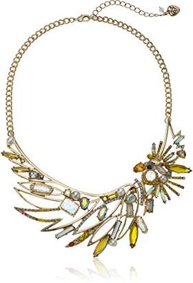 Betsey Johnson Critters Bright Cockatoo Frontal Necklace
