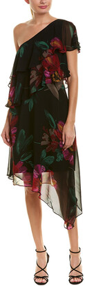 Trina Turk Dancer Silk A-Line Dress