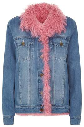 Simonetta Ravizza Sheepskin Lined Denim Jacket