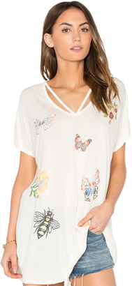 Lauren Moshi Presley Butterfly Lane Tee $96 thestylecure.com