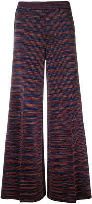 M Missoni jacquard knit palazzo trousers