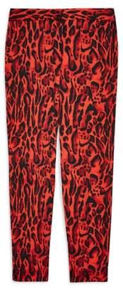 Topshop Leopard Suit Trousers