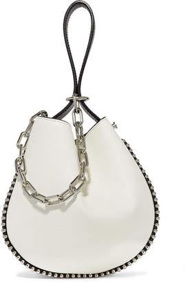 Alexander Wang Roxy Studded Two-tone Textured-leather Bucket Bag