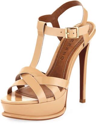 Carrano Justine Patent Leather Platform Sandal, Nude $139 thestylecure.com