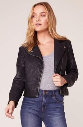 BB Dakota Let's Ride Vegan Leather Moto Jacket