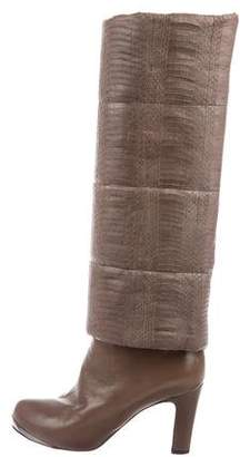 Devi Kroell Leather Knee-High Boots