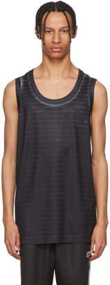 adidas by Alexander Wang Black and White Basketball Jersey Tank Top