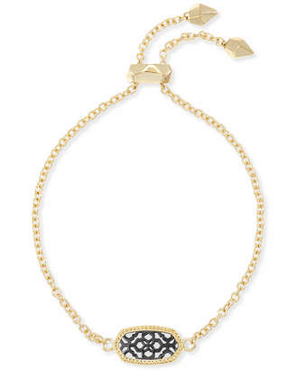 Kendra Scott Elaina Gold Adjustable Chain Bracelet in Gunmetal Filigree