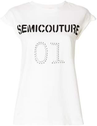 Semi-Couture Semicouture logo sleeveless top