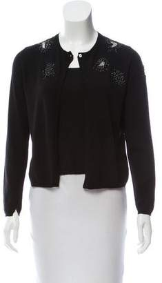 Les Copains Embellished Knit Cardigan Set